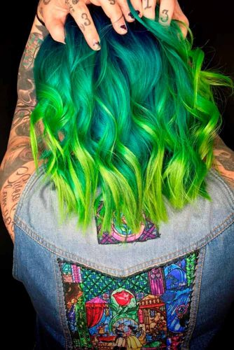 Beautiful Green Ombre on Bob Haircuts picture3