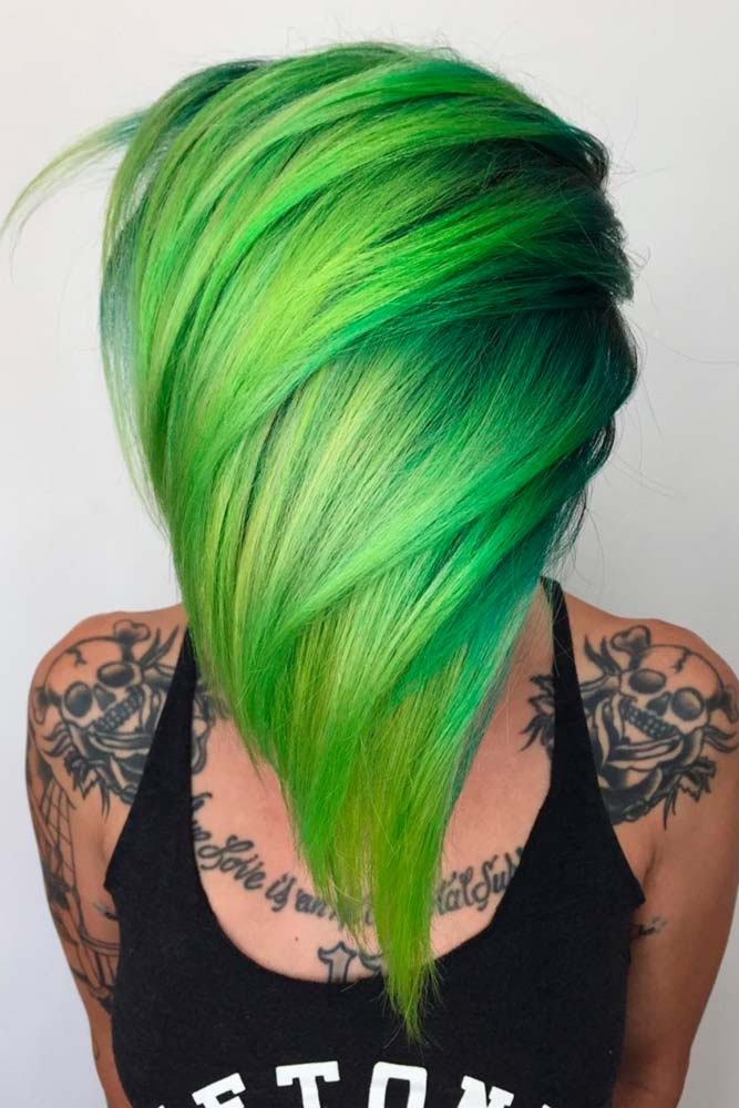 Inspirational Green Ombre Hair picture1
