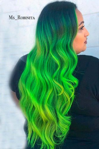 Bright Green Ombre picture3