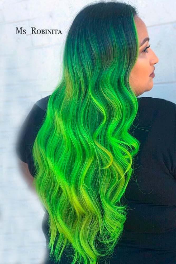 Bright Green Ombre picture3