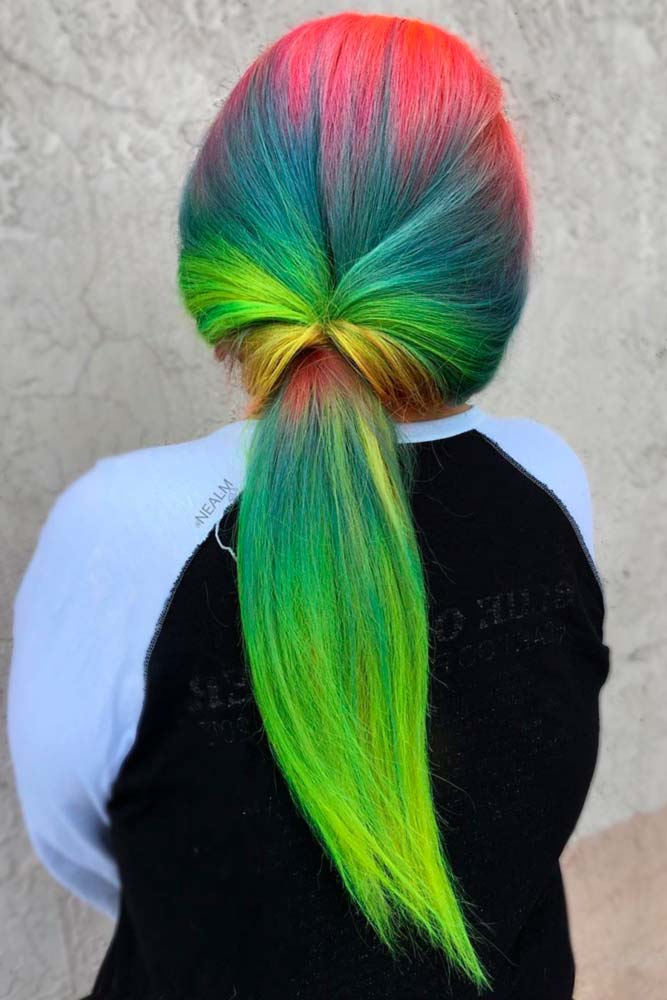 Amazing Green Ombre on Long Hair picture2