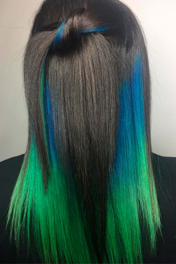 Juicy Green Strands of Hair picture3