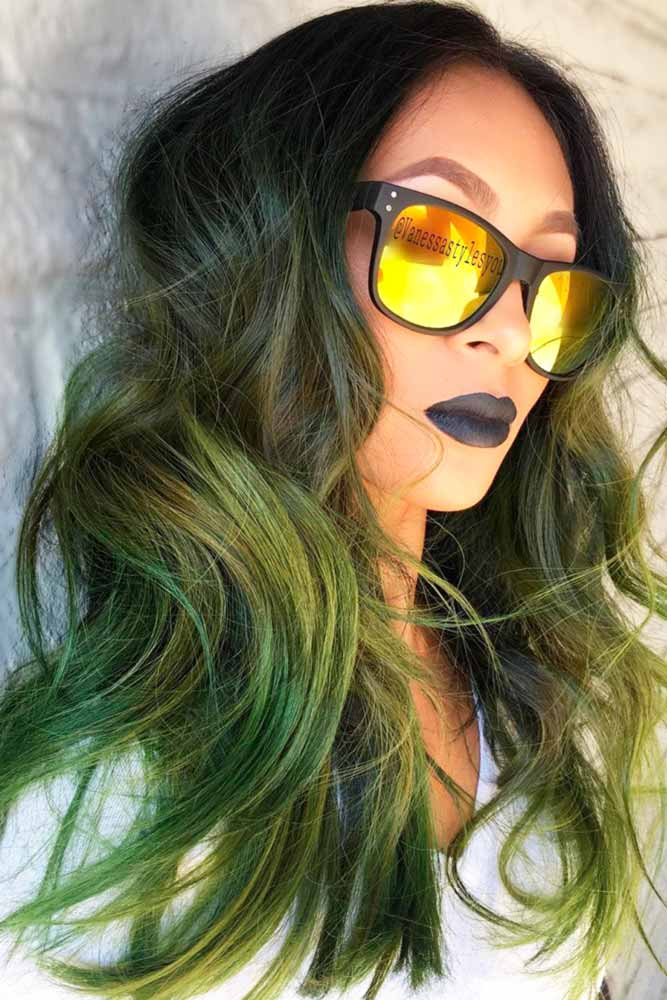 Pastel Green Ombre Hair Ideas picture3