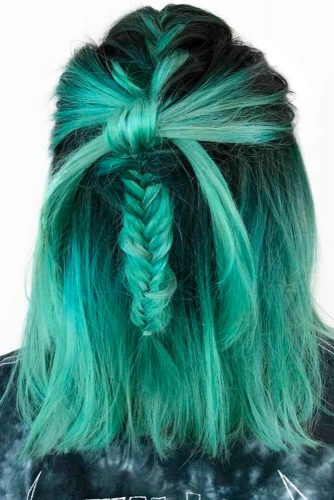 Pastel Green Ombre Hair Ideas picture2