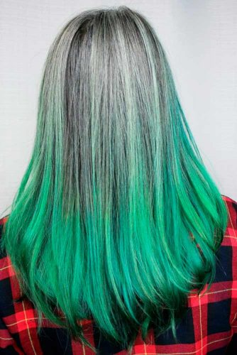 Pastel Green Ombre Hair Ideas picture1