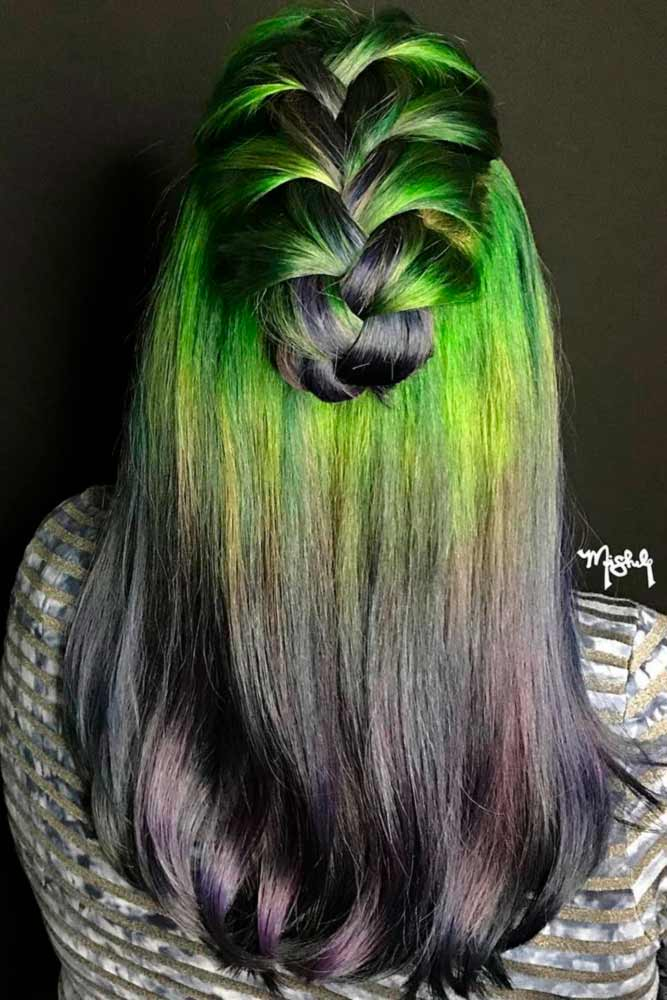 Juicy Green Strands of Hair picture1