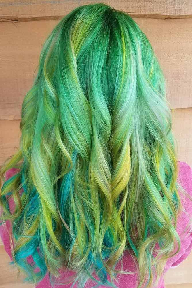 Green Two Toned Ombre picture3