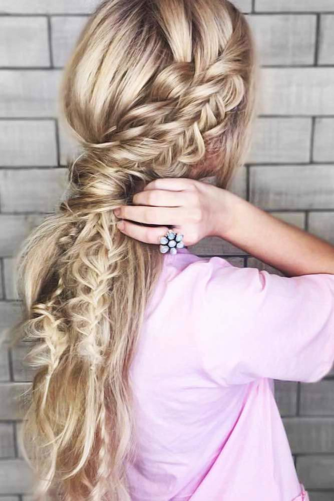Nice Side Braid #braids #ponytail