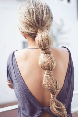 Bubbled Braid Pony Wavy #braids #ponytail