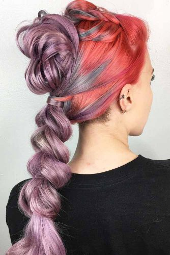 Bright Braided Ponytails picture 1