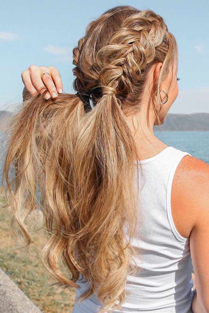 Beautiful Half Double Pigtails Dutch #braids #ponytail