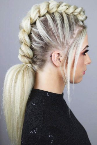 Dutch Mohawk Braided Ponytail #braids #ponytail #mohawk