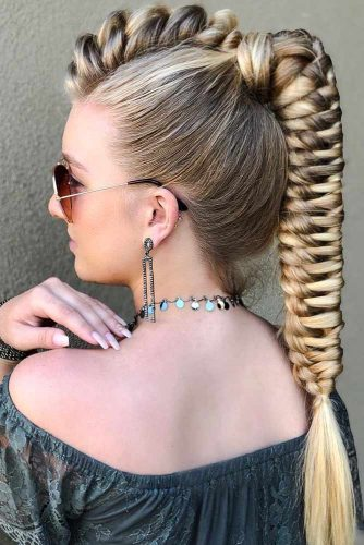 Infinity Mohawk Braided Ponytail #braids #ponytail