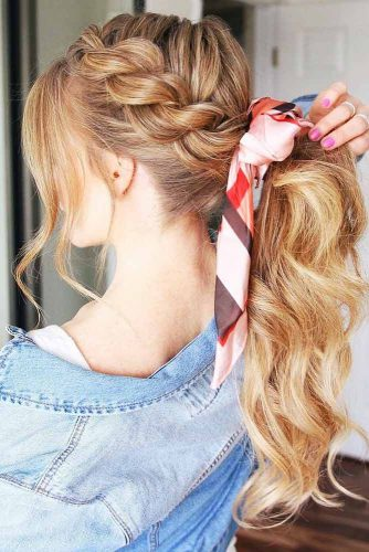 Rope Braid Pony Wavy #braids #ponytail