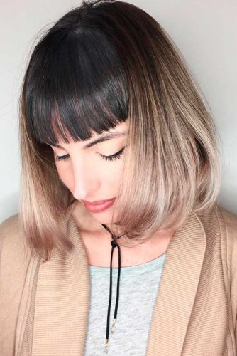 Sleek Bob with Bang