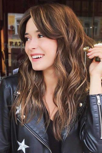 Waves & Bangs Highlights Waves & Bangs #longhair #layeredhair #bangs