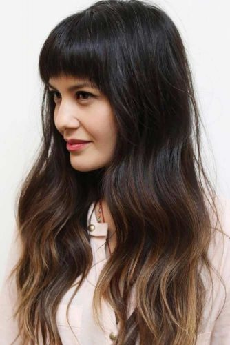 Straight or Wavy Hairstyles with Bangs picture 2