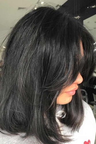 Cute Bangs for Medium Length Hair picture 3