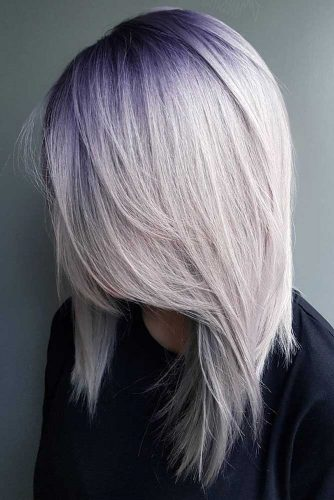 Violet to Platinum Blonde