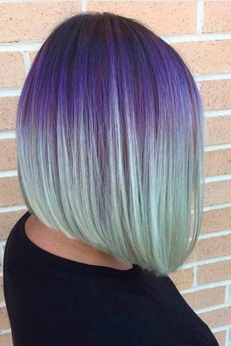 Purple to Mint Bob