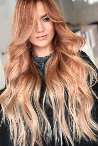 Copper Gold Ombre Hair