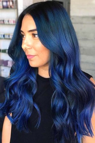 Navy Blue Waves