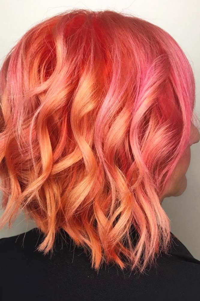 Apricot Ombre Glam Curls