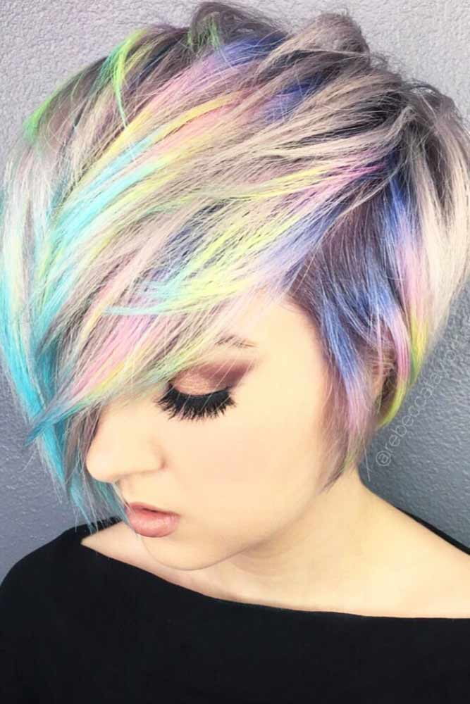 Iridescent Super Short Bob
