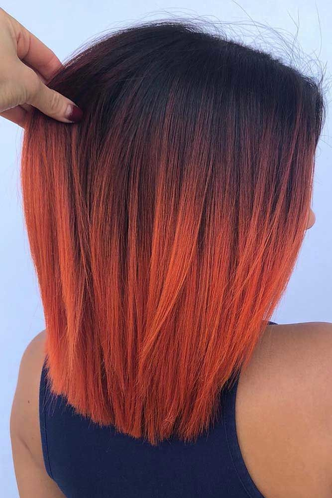 Black & Coral #ombre #hairstyles
