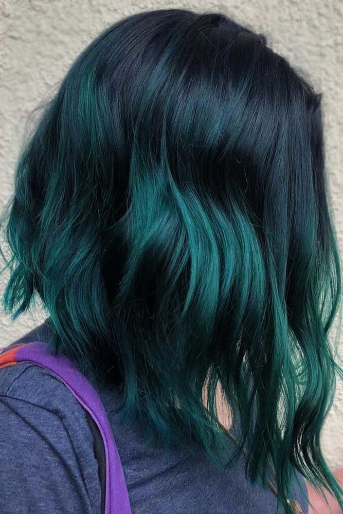 Blue Black And Emerald #ombre #hairstyles