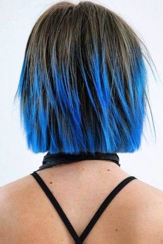 Seductive Blue Ends #ombre #brunette #bluehair