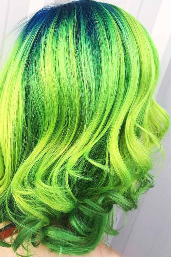 Fresh Green Ombre
