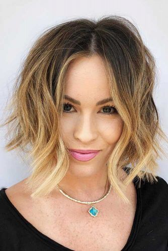 Bob With Sandy Ombre #ombre #brunette