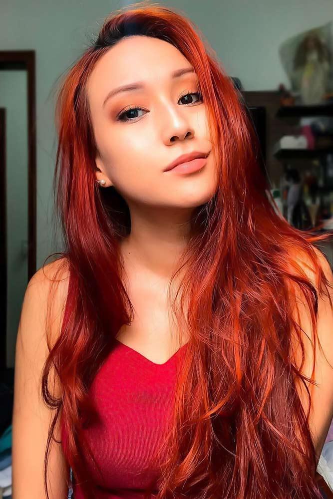 Bright Crimson #redhair