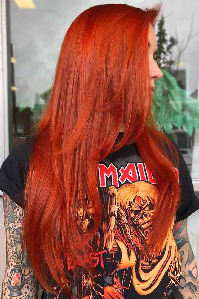 Bright Fiery Coral #redhair