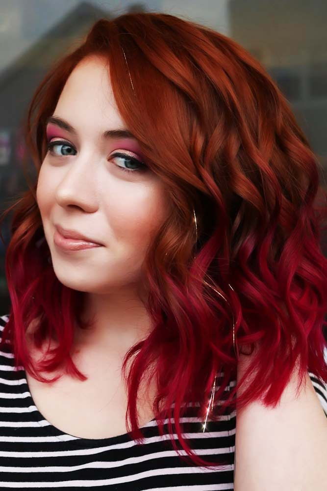 Copper To Magenta Color Melt #redhair