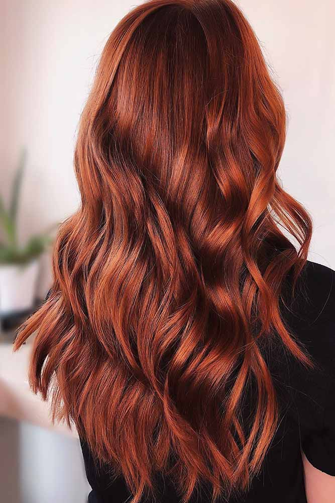 Copper Red Gloss For Brown Hair #redhair