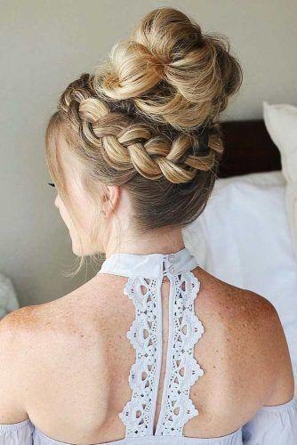 Buns Hairstyles #updo #bun