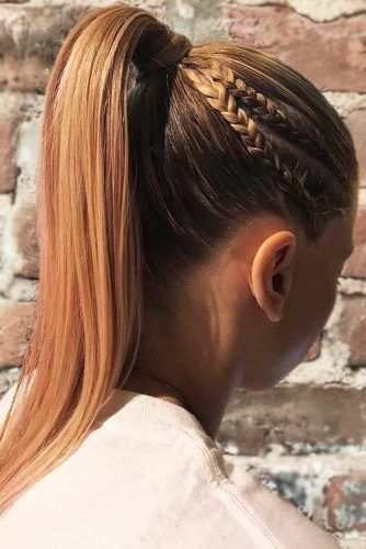 Double Dutch Braids Into Ponytail #updo #braids #ponytails