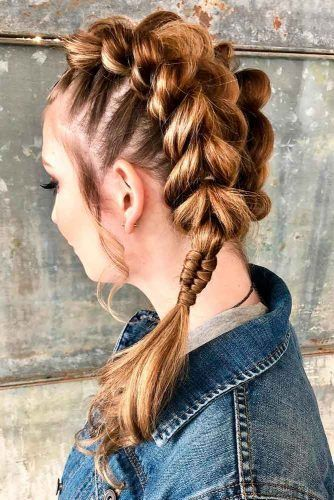 Easy Updos For Thick Hair #updo #braids #ponytails