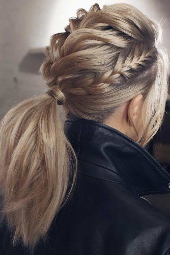 Braided Updo Hairstyles #updo #braids #ponytails