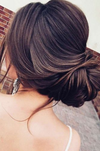 Hairstyles That Match Your Backless Gown Dress #updo #bun