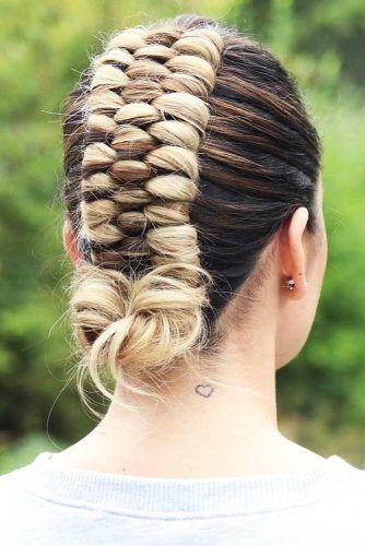 Infinity Braid Updo #updo #braids #knot