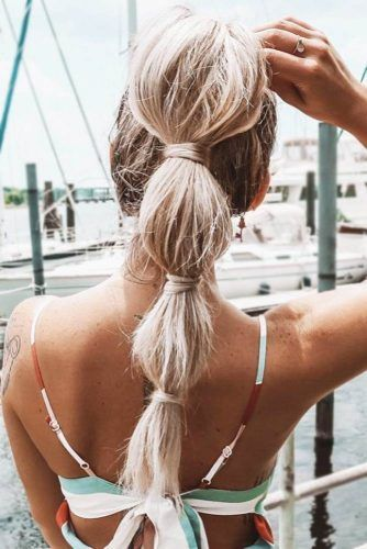 Long Bubbled Ponytail #updo #ponytails