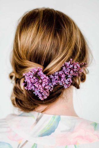 Flowered Low Bun #updo #braids #bun