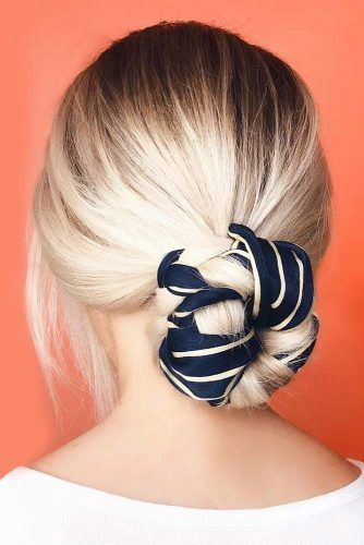 Low Bun With Interwoven Headband #updo #bun