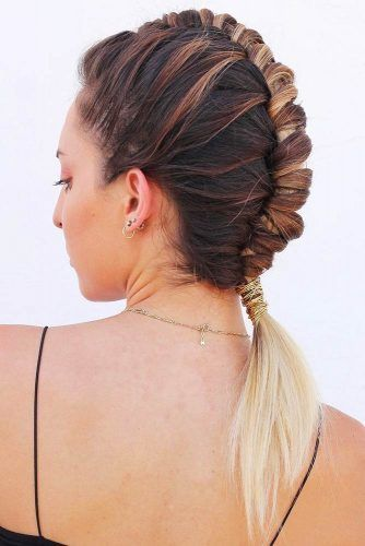 Pipe Braid Into Pony #updo #ponytails #braids