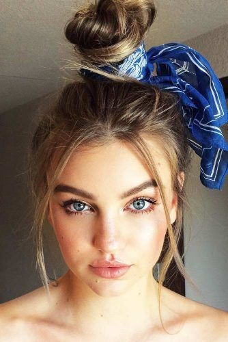 Messy Updo With A Headband #updo #knot