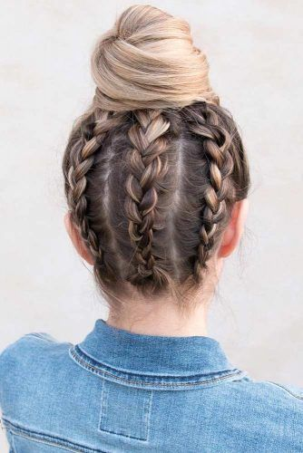 Creative Ideas Of Updos #updo #bun #braids