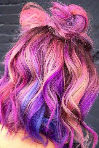 Bright Half Bun Hairstyle picture 1